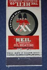 1940s Milwaukee,Wisconsin Heil Furnaces-Boiler Units-Air Conditioners matchbook!
