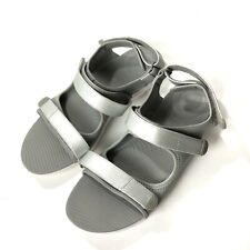 Fit Flop Sandals 9 EUR 41 Silver Grey Strappy Comfort Walking Shoe Ladies