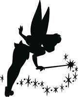 Tinkerbell Fairy Dust I / Disney Silhouette Kids Wall Art Vinyl Vehicle Decal
