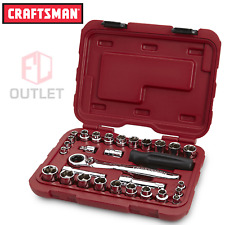 Craftsman 30pc 1/4 & 3/8 in Drive Socket Wrench Ratcheting Set + Case SAE Metric