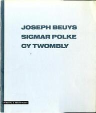 Joseph BEUYS Sigmar POLKE Cy TWOMBLY 1988 Exhibition Catalogue Hirschl & Adler