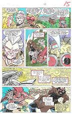 Clive Barker Hyperkind #9 pg11 original hand-painted color guide art 1995 signed