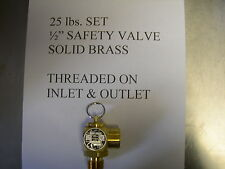 Fits Broaster,Solid Brass Safety Relief Valve All Mod. fits Henny Penny Fryer To