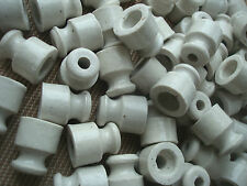 40St. Retro Keramisch Isolator Porzellan Keramik für Litze Ceramic Insulator