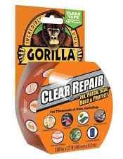 8.2m Gorilla Clear Repair Tape, Gloss finish Adhesive Duct Tape Gaffer Tape