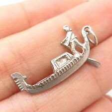 Vtg 800 Silver Sailor Man On A Boat Charm