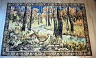 Pheasant Art Plush Tapestry Wall Rug Picture 74x48 Made in Italy Vintage Hunting