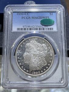 1890 Carson City Morgan Silver Dollar MS 62 DMPL Proof Like PCGS CAC Sticker BP
