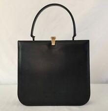 Vintage Manon Women's Black Leather Handbag