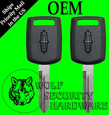 Lot of 2 Lincoln Logo OEM PATS RFID Transponder Security Chip Key Blank 5913437