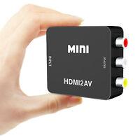For Roku 2 3 4 Streaming Stick On Older TV HDMI to AV 3RCA Adapter 1080P CVBS