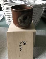 Vintage Japanese CHAWAN Unique Handmade Signed Tea Ceremony Bowl Pottery and Box
