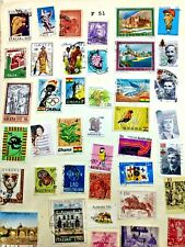 USED WORLDWIDE STAMPS LOT # F 51 2 PAGES GHANA, iTALY, GREECE, GUINEE ETC.