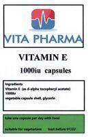 HIGH STRENGTH VITAMIN E 1000iu 365 capsules ANTIOXIDANT CIRCULATION SKIN HAIR