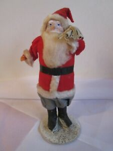 Vintage Spun Cotton & Pipe Cleaner Santa Claus Figure, Putz Santa Figurine?