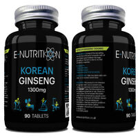 KOREAN GINSENG 1300mg TABLETS | RED PANAX | VEGAN | ENERGY BOOST | FOCUS