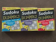 3 Sudoku For Dummies Card Games-3 Different Levels-Easy, Tough, & Tricky-New