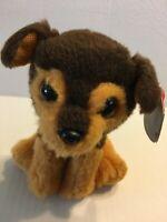 "Ty Original Beanies Tucker Brown Dog NEW 7"" Plush Stuffed Animal"