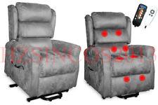 Reclining Electric Lift Heating Massage Disable Chair Sofa Senior Elder 1 Motor Brown