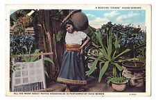 Mexico postcard A Mexican Criada House Servant young woman ca 1929