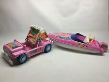 Mattel Wet And Wild Barbie Convertible Beach Buggy & Speedboat