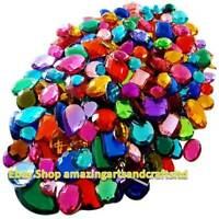 Mixed Acrylic Gemstones Gems Jewels Craft Embellishments Cards 100g 120g