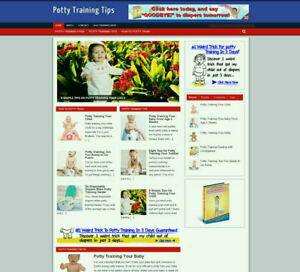 POTTY TRAINING TIPS FOR BABY BLOG & WEBSITE WITH STORE AND AFFILIATES