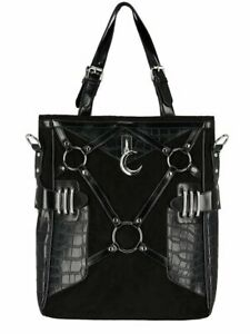 Restyle - Layla Black - shopper bag with harness, womens, gothic, modern witch