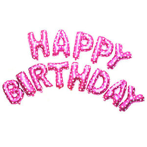 """16"""" 13Pcs Letters Foil Balloons """"HAPPY BIRTHDAY"""" For Birthday Party Decoration"""