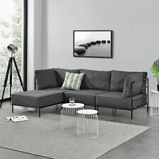 [en.casa] Ecksofa Sofa Couch Eckcouch Polstergarnitur Wohnlandschaft 3-Sitzer