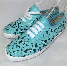 JC Play Jeffrey Campbell Women's Peg-Daisy Cutout Turquoise Sneakers 8 $100 B8