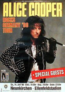 ALICE COOPER Konzertplakat von 1990 gerollt
