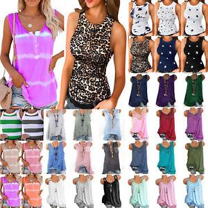 Women's Comfort Vest Sleeveless T Shirts Loose/Slim Tank Tops Casual Blouse Tee