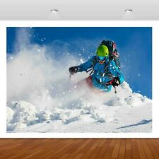 Extreme Sports Snowboard Skiing 3D Mural Decal Wall Sticker Poster Vinyl S316