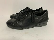 b50b6399c83 Mephisto Women Size 6.5 B Oxford Sneakers Air-Relax Black Leather Lace Up