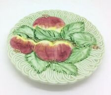 "San Marco Nove Made In Italy Majolica Apple Basket Plate Vintage 8"" 21cm"