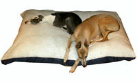 KosiPet® Large Deluxe Waterproof Rhomboid Memory Foam Pad  Dog Bed WHITE SHERPA
