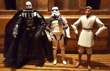 Darth Vader Obi Wan Kenobi Storm Sand Trooper Star Wars Lot of 3 ROTS CW