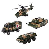 Army Vehicle w/ Free Wheel 1:64 Scale Diecast Model Dump Truck Car Kids Toy