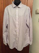 JAEGAR Lilac Gingham Check Shirt 16.5 Collar Ex Cond