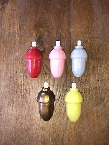LOT De 5 ANCIEN INTERRUPTEUR POIRE POUR LAMPE Vintage