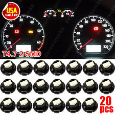 20pcs Super White T5/T4.7 Neo Wedge 12mm 12V Instrument Dashboard LED Light Bulb