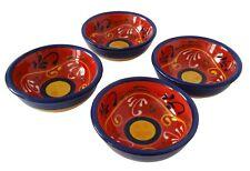 Set of 4 Tapas Bowls / Dishes 9 cm x 3.5 cm  Spanish Handmade Ceramic Pottery