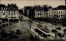 Bruxelles Bruxelles Belgique 1946 Tram voitures transport tramway arrêt S/W AK
