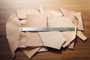 2lb Leather Scraps, LARGE size pieces Vegetable Tanned Leather, Tooling Remnants