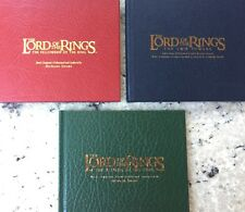 Lord of the Rings Soundtracks Limited Editions ALL 3 FILMS 2001 to 2003 CD Sets