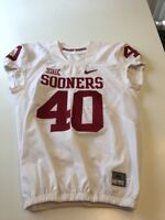 Game Worn Used Oklahoma Sooners OU Nike Football Jersey Size 44 #40 Terry