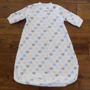 Baby Girl Carter's Fleece Sleep Sack Small Hearts