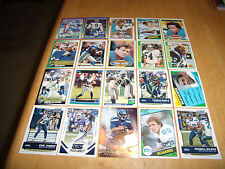 (20) SEATTLE SEAHAWKS FOOTBALL CARD LOT-RUSSELL WILSON, STEVE LARGENT, & MORE