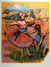 "WAYNE ENSRUD Original Limited Lithograph ""Preparing for the Ballet"" SIGNED COA"